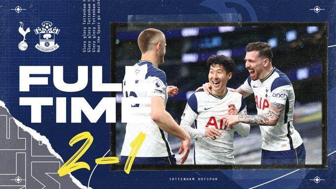 Skor akhir Tottenham Hotspur 2-1 Southampton