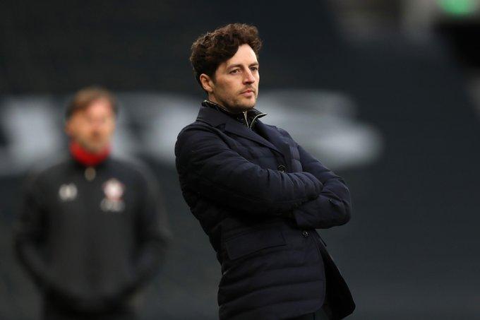 Pelatih Tottenham Hotspur Ryan Mason