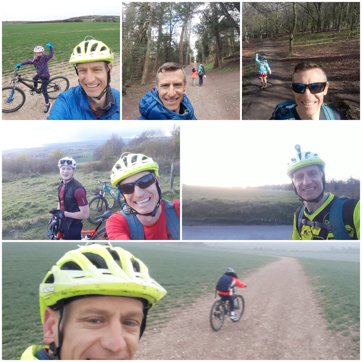 It's been a while so here is a collage of recent activities. Walking in Ashridge and Tring, biking to school, new bike test for youngest, tough ride with nephew, night rides. #GetOutside #Lutonoutdoors #activebedfordshire @ActiveLuton @teamBEDS @OSleisure