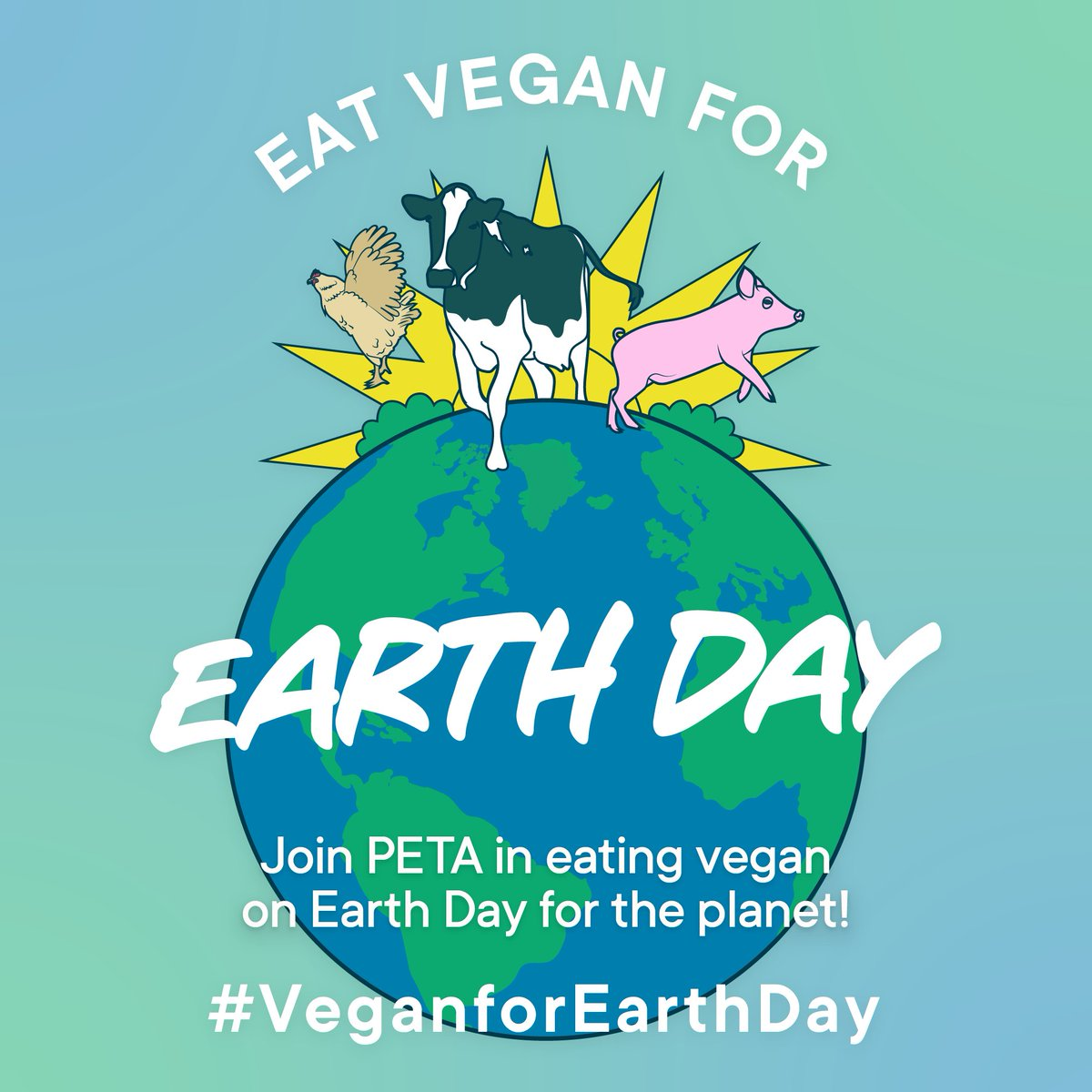 @bifnaked Tomorrow is #EarthDay! Join us in celebrating by retweeting and inspiring everyone to eat #VeganforEarthDay 💚🌎🌱   By choosing to eat vegan—even for just a single day—you're choosing to help save our planet and everyone on it! 😊 https://t.co/3wQNIhsVgR https://t.co/c51kB0r0rw