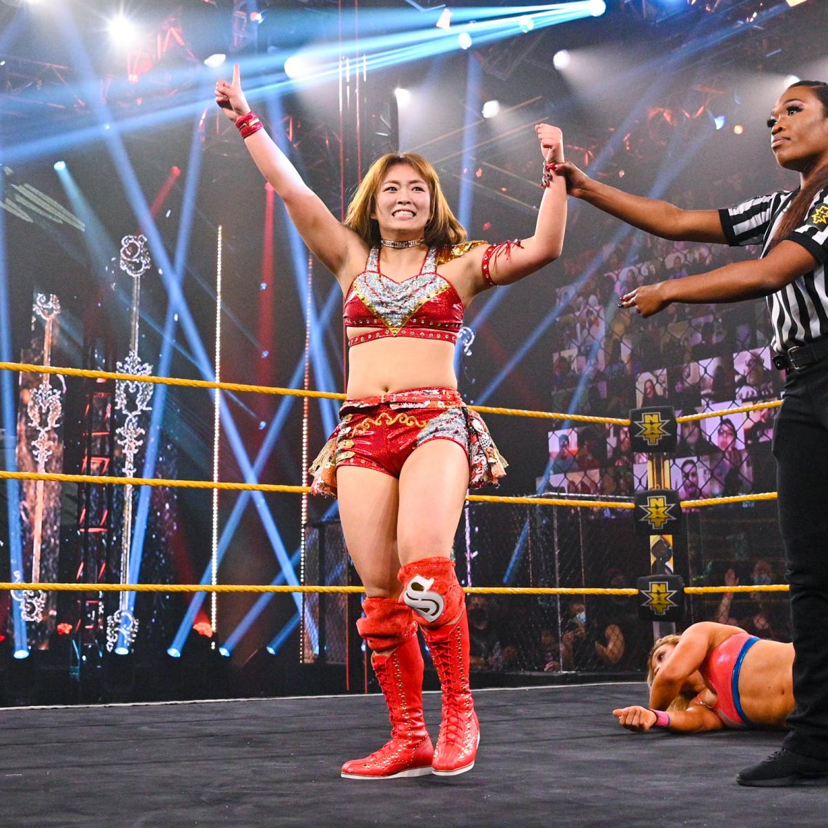#WWENXT: Sarray defeated Zoey Stark in her debut.  The two embraced post-match, but Toni Storm - who Stark defeated on the #NXTTakeOver: Stand & Deliver pre-show - emerged and attacked Stark.