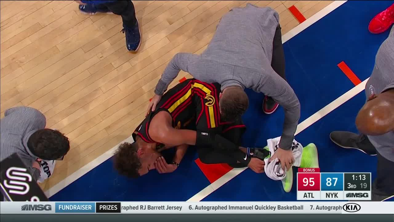 Trae young suffered a injury