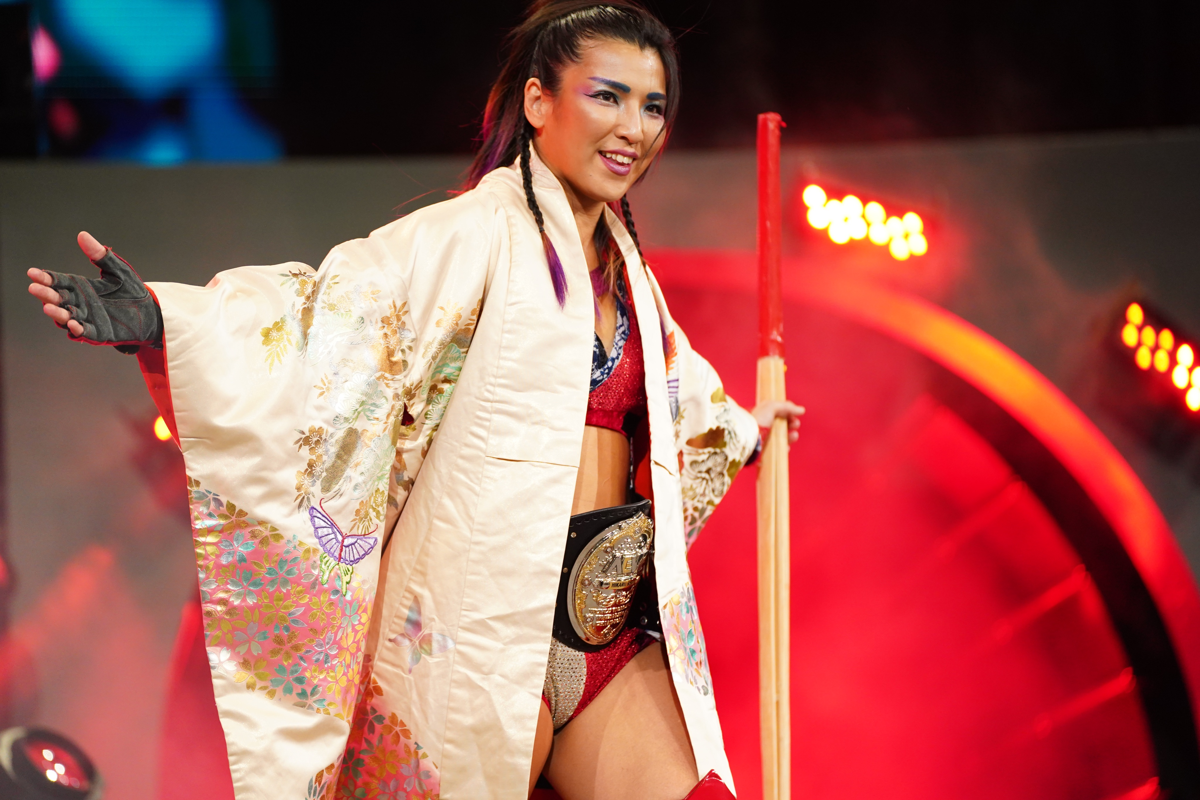 Hikaru Shida fought with Tay Conti on this week's AEW Dynamite for the women's title.