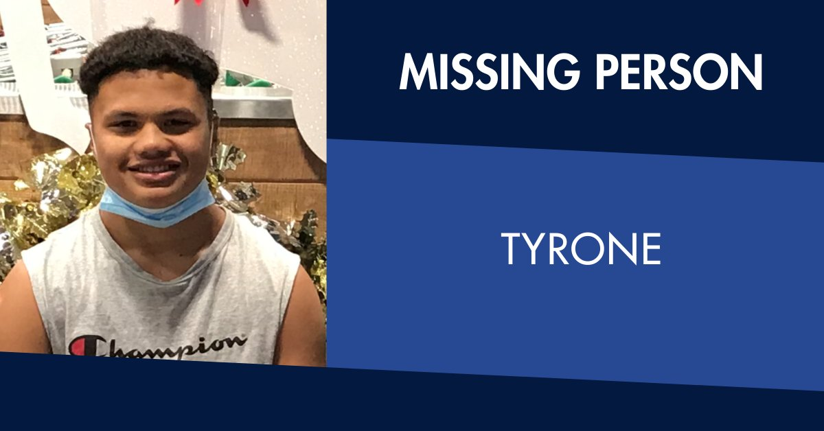 Tyrone is missing.   The 14-year-old was last seen at a Werribee shopping centre on 6 April.   He is known to frequent the Hoppers Crossing and Tarneit areas.   Anyone who sees Tyrone is urged to contact Wyndham North Police Station on 8734 1100. https://t.co/jO1xPZ3JTj