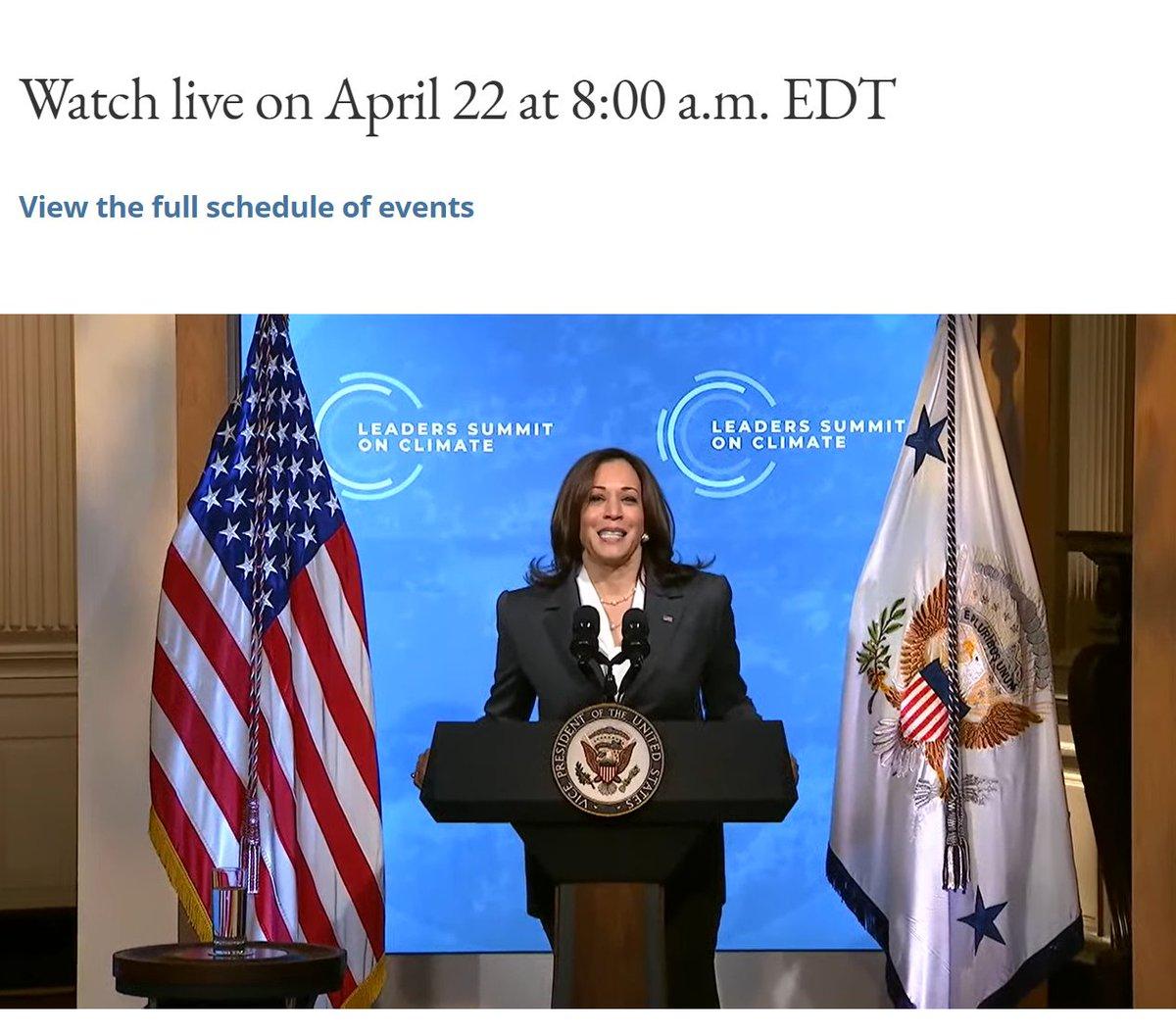 VP Harris opens (with weird echo in the live feed) Damn still echo with Pres Biden?