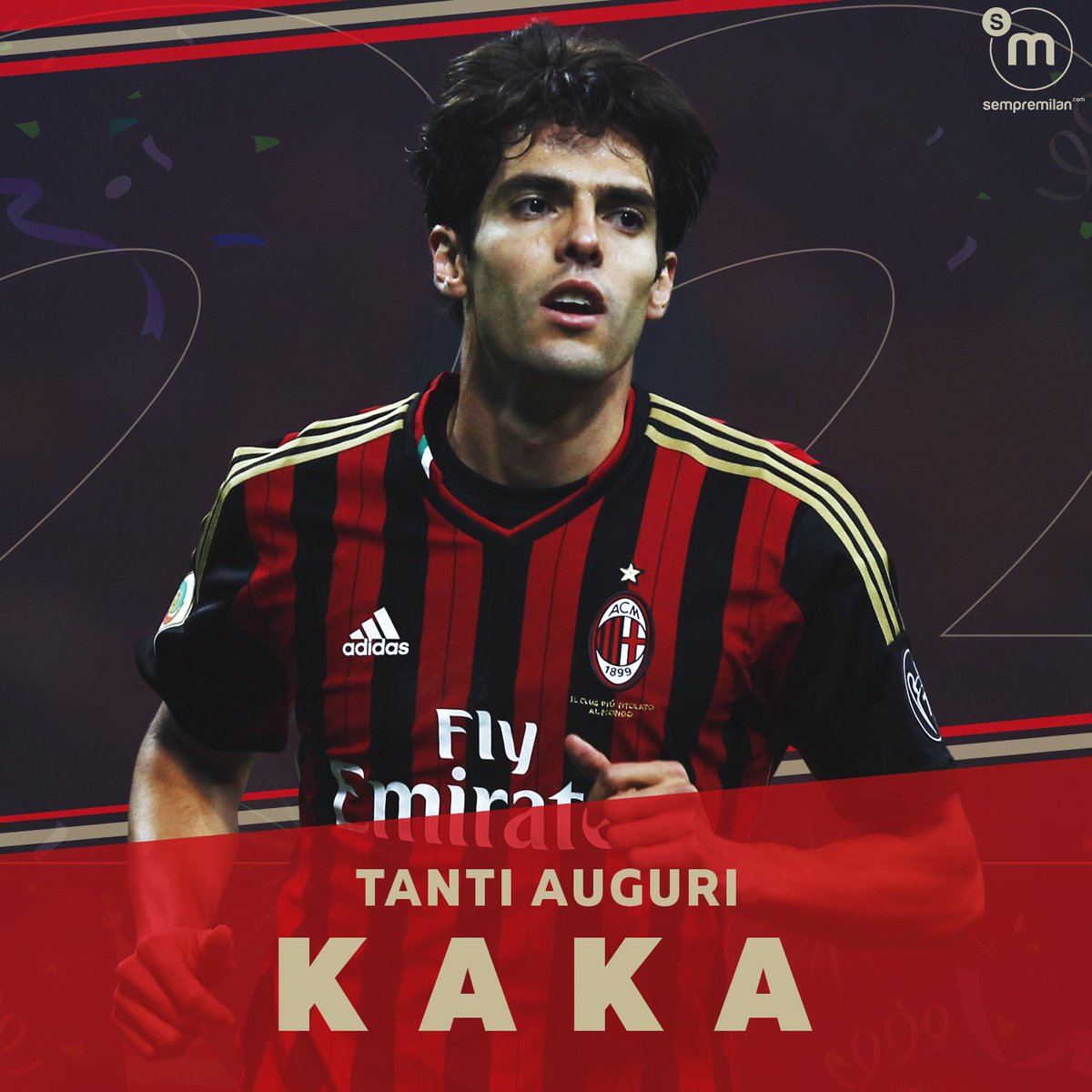 🎂 Happy 39th birthday to #ACMilan Hall of Fame member Ricardo @KAKA!   ☑️ 307 Appearances ⚽️ 104 Goals 🤝 68 Assists 🏆 5 Major trophies 🥇 Ballon d'Or winner  🇧🇷 Legend. #AuguriKaka 🔴⚫ https://t.co/BX3udZRK3v