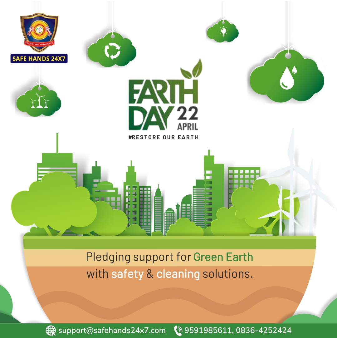 Lend a hand to save the Land and Imagine a Healthy and Sustainable world  Go green and make our earth a beautiful place to live.   #saveearth #savelife . . . . . #safehands24x7 #stayclean #staysafe #stayhealthy #COVID21