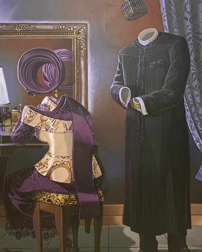 No time, Mcbede Okpara  Acrylic on Canvas, 2020 41 x 54 -  -  #Whereitsart #Artoftheday #Artinspiration https://t.co/TQ3NxUZENP