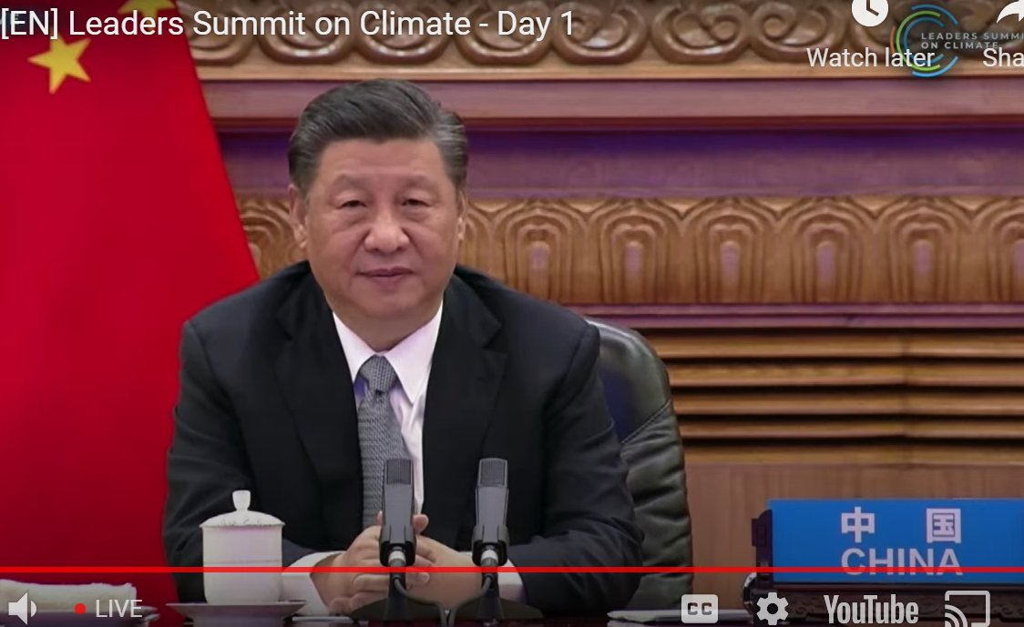 """Green mountains are gold mountains' tells China's head of state, President Xi JinpingOne for Aus Resources Minister Keith Pitt """"China will limit coal consumption over next 5 yr period and phase it down over next 5 period""""  #ClimateLeadersSummit  #auspol"""
