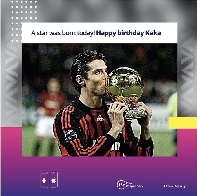A star was born today! Happy Birthday     Tag a friend of family member who shares a birthday with Kaka