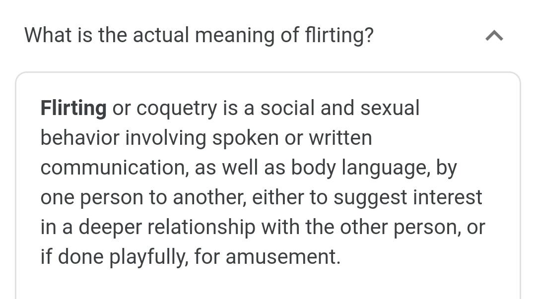 You to me owe response flirty 3 Ways