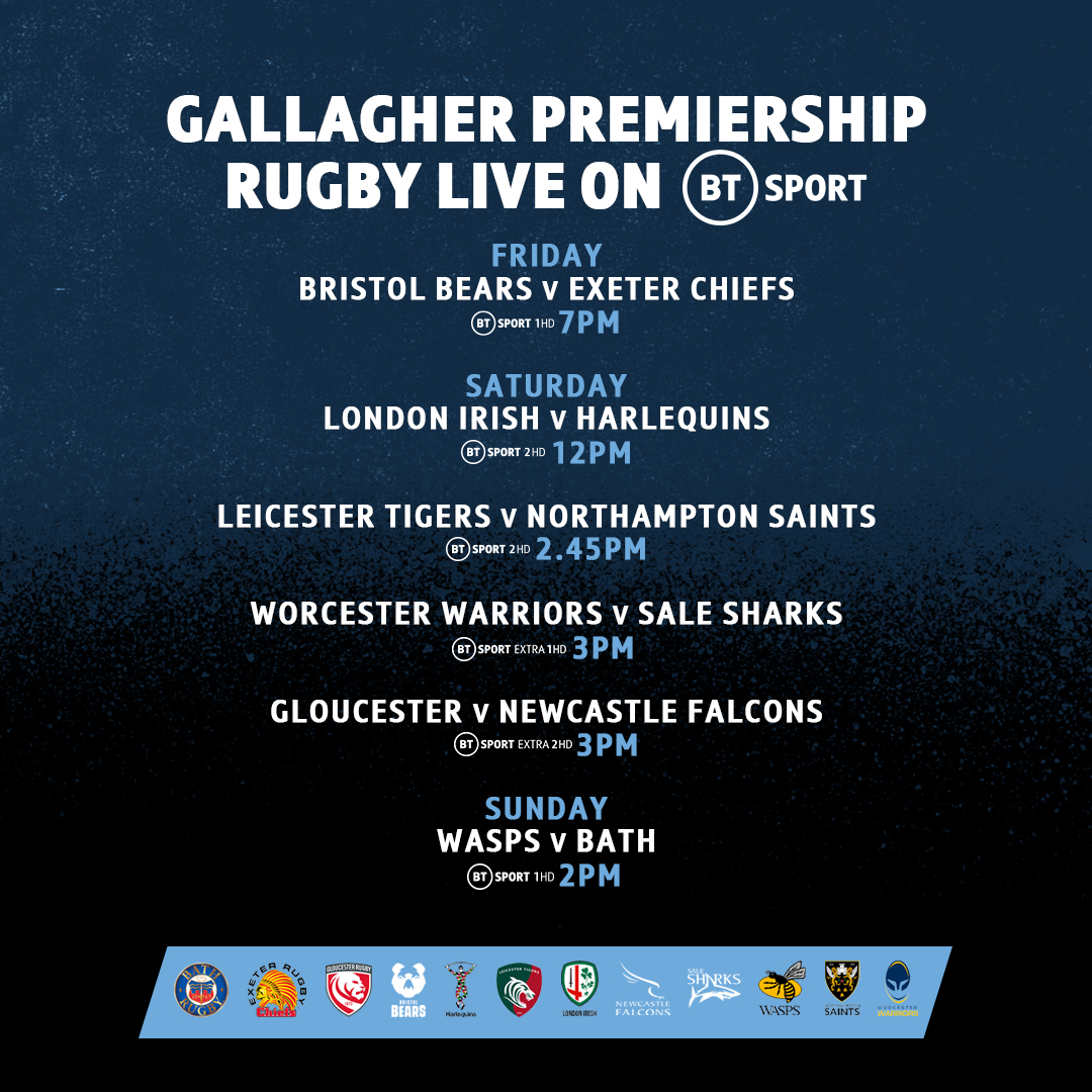 test Twitter Media - An absolute cracker tomorrow night to kick-off a weekend of #GallagherPrem rugby 😍 https://t.co/u3TbhgwY53
