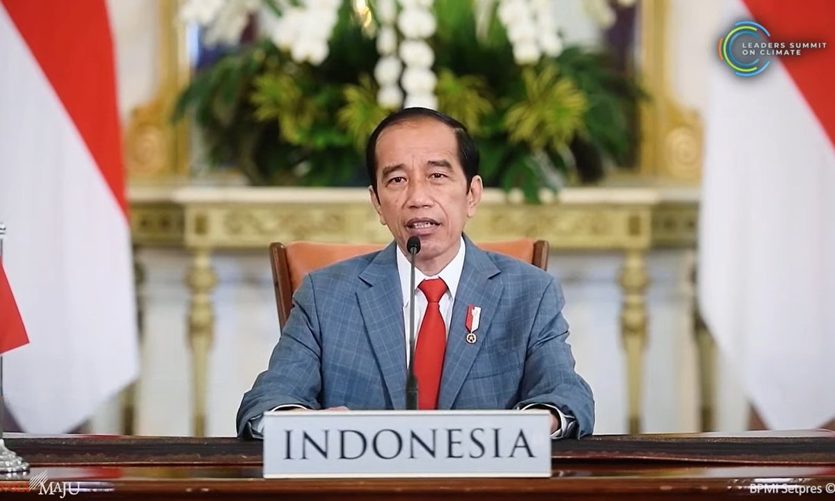 Closer to home  #auspol with President Jokowi Lowest deforestation levels in 20 yearsProtecting largest portion of mangroves in world (known as blue carbon in the climate biz) As incoming G20 President in 2022, they will keep focus on sustainability  #LeadersClimateSummit