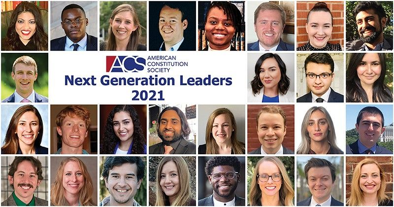 Congratulations to ACS's 2021 cohort of Next Generation Leaders! These 28 up & coming legal professionals have demonstrated leadership as @ACSStudents & will help shape positive progressive change in their communities. #ACSNextGenLeader https://t.co/dnk9NKRfD6