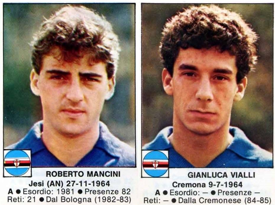RT @OldSchoolPanini: The young Roberto MANCINI & Gianluca VIALLI - Sampdoria 1984-85 https://t.co/E7OHaJRfUq