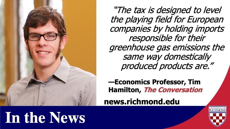 Don't miss this piece on the EU #carbontax written by @urichmond, @UR_RobinsSchool economics prof Tim Hamilton via @conversationus https://t.co/1WZAldluFz