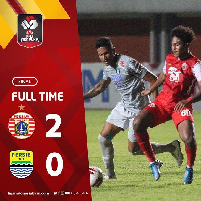 Skor akhir Persija Jakarta 2-0 Persib Bandung