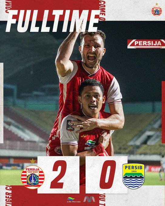 Hasil skor akhir Persija 2-0 Persib