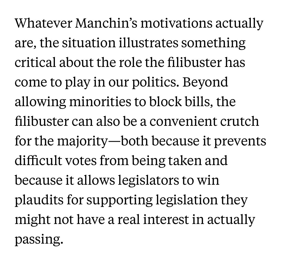 A very good column from @OsitaNwanevu on how the filibuster allows pols to pretend to support something they don't ever have to cast a vote for. https://t.co/Luq0BuSSiU https://t.co/EbVSv9ILDx