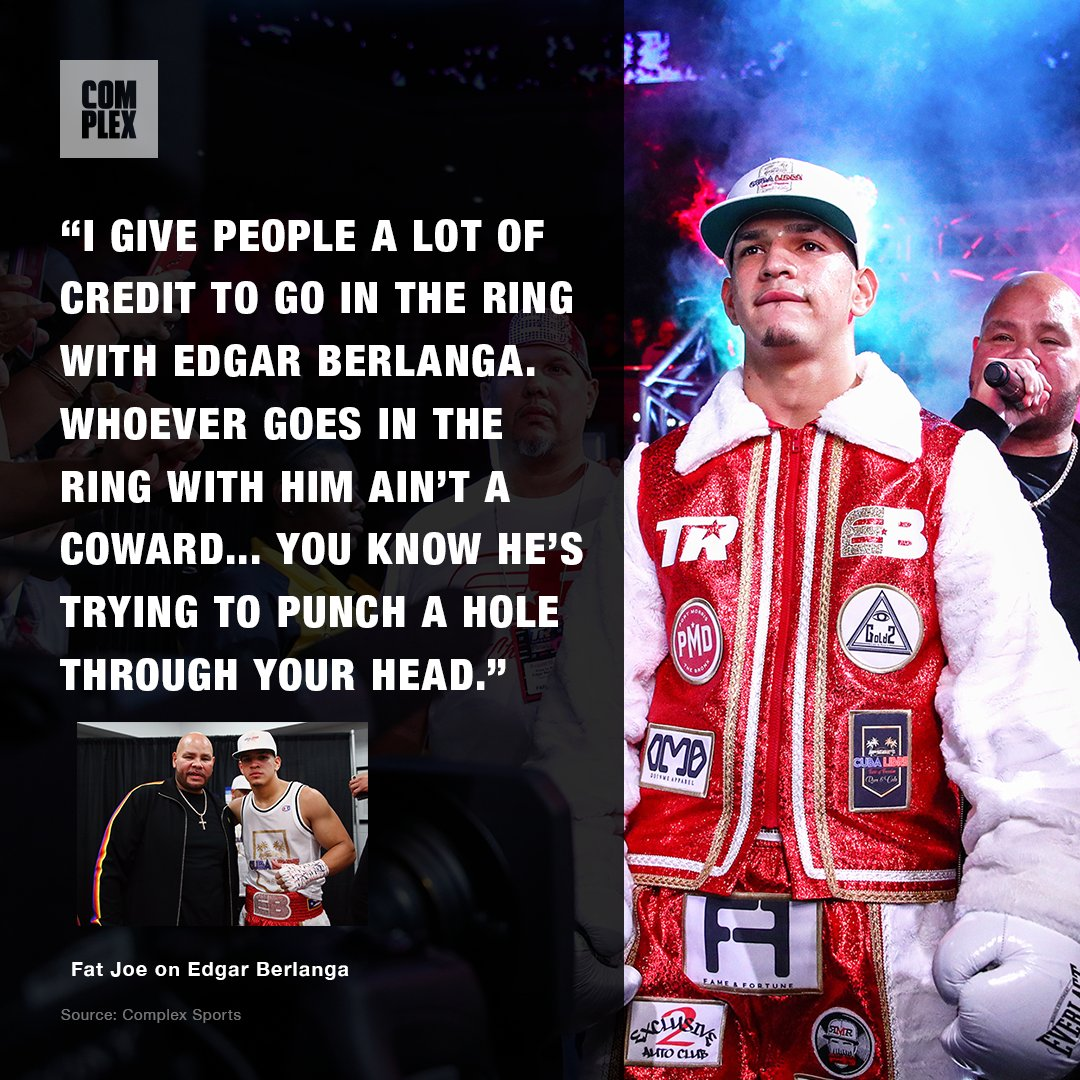Introducing Edgar Berlanga. 🥊  With Fat Joe in his corner, the young knockout sensation is chasing boxing history.   READ: https://t.co/IAZvDLHehv https://t.co/JbiO8rRajq