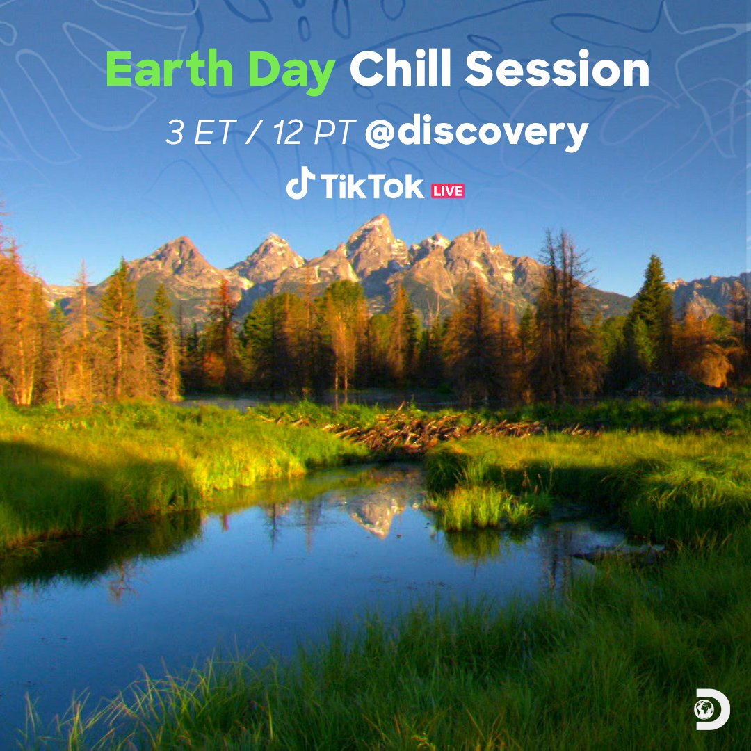 We think you deserve a break.  Relax and hang out with us for a calming #EarthDay chill session on @tiktok_us, starting soon at 3p ET!   See more here -->
