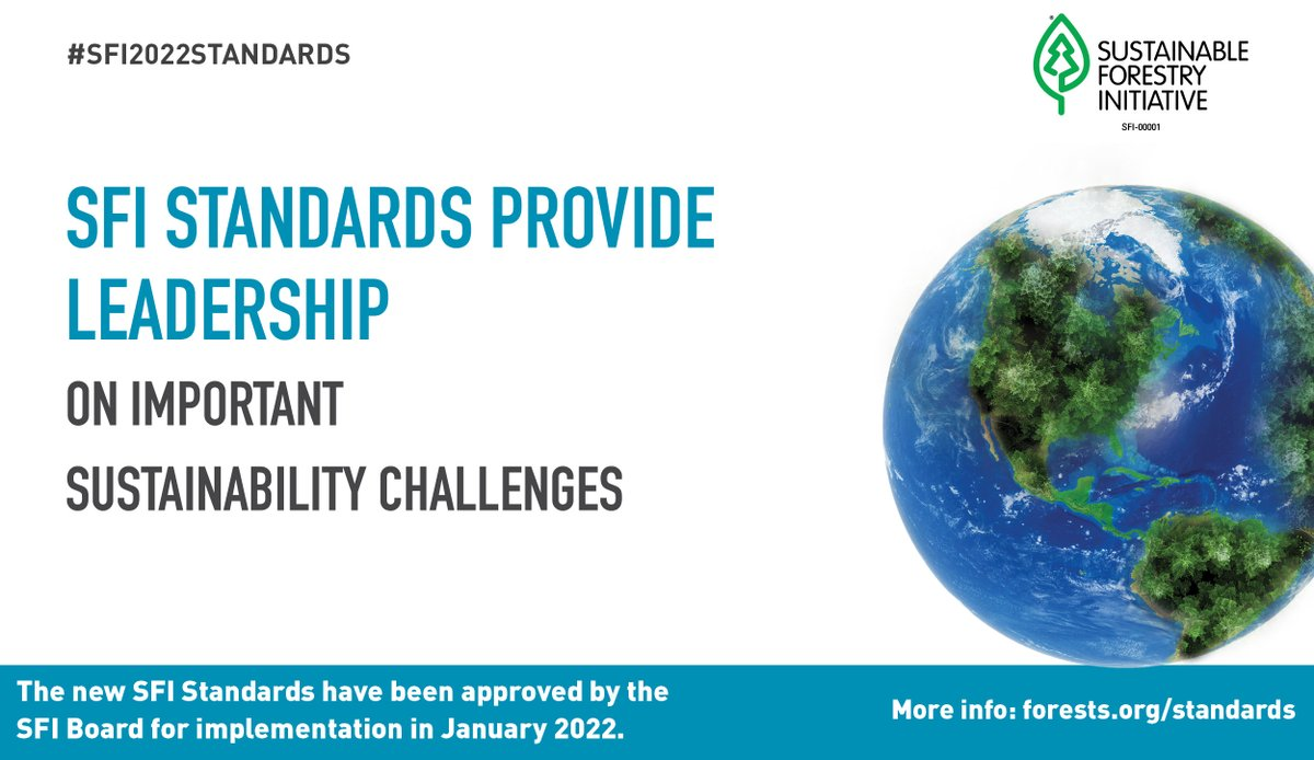 We are excited to announce #SFI's new standards focused on solving some of the world's biggest #sustainability challenges. #SFIstandards #BetterChoicesForThePlanet #GrowingSolutions #EarthDay