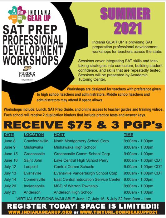 SAT Prep Professional Development Workshops https://t.co/9KbNaPAlcl