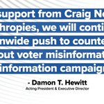 Image for the Tweet beginning: Combating voter misinformation is key