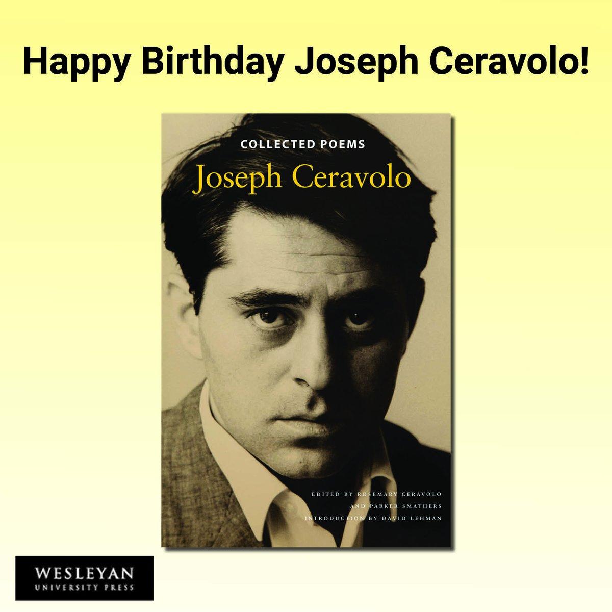 test Twitter Media - Happy Birthday Joseph Ceravolo! #PoetryMonth #JoeCeravolo #NewYorkSchool #KennethKoch #NewJersey #Queens #AmericanPoetry #TwentiethCenturyPoetry https://t.co/BqzRhJf5LE https://t.co/TPZ48WsdbT