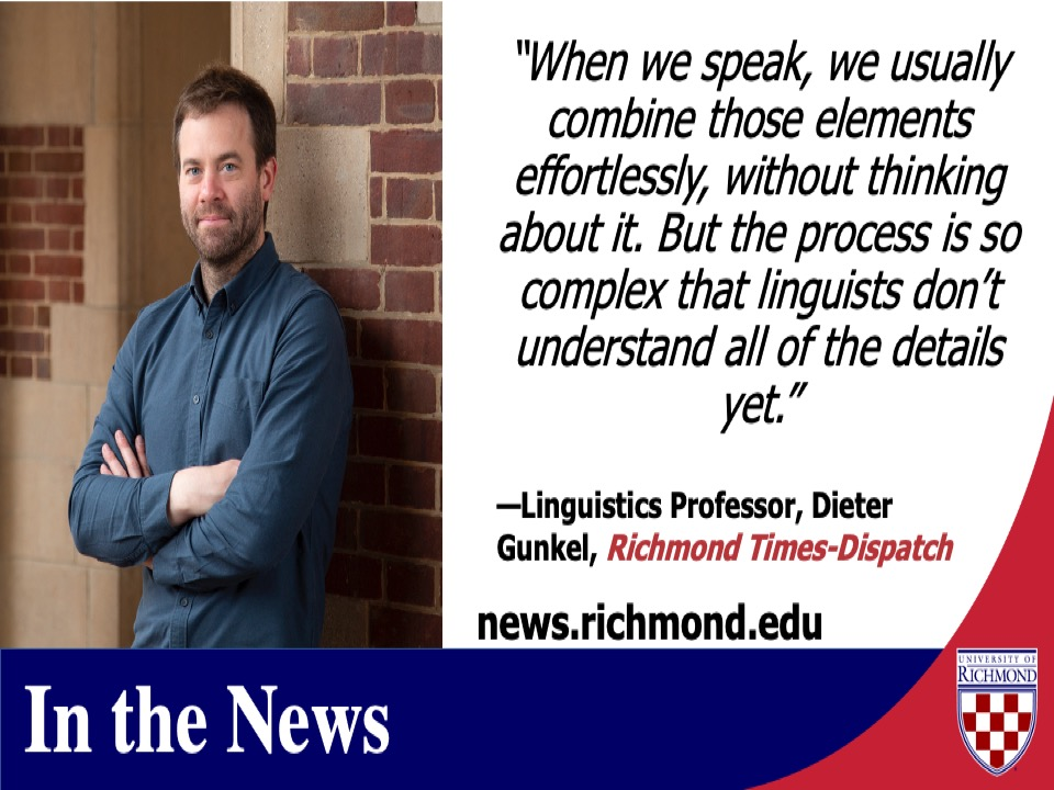 https://t.co/9QDgBn3owN Did you know @urichmond, @richmondas historical linguistics professor Dieter Gunkel has a course on #syntax? Check out this Q&A to learn more - special thanks to @rtdnews for highlighting our #URExpert! https://t.co/n77NAUw0pm