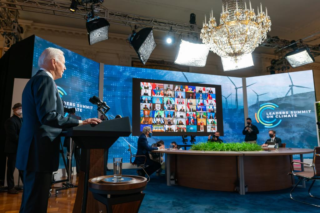 President Biden hosts a summit on climate with 40 world leaders