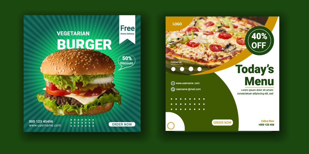 #Food and #Restaurant #social #media Post #template #design.For more details, You can Visit   https://t.co/Qe01dosEjP       #graphicdesign #design #art #illustration #graphicdesigner #logo #branding #graphic #designer #digitalart #illustrator #photoshop #creative #artwork https://t.co/2eoffPMlxK
