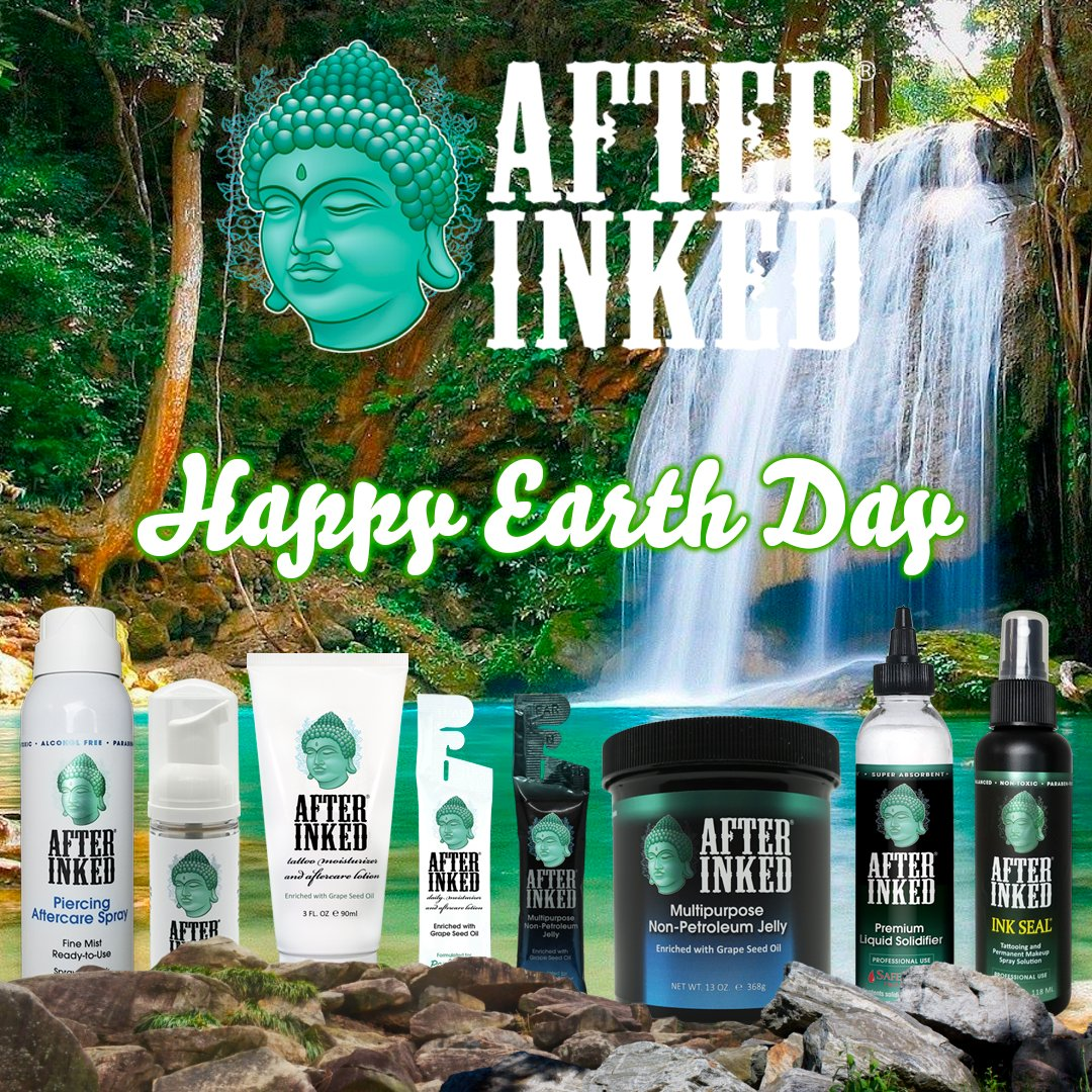 Celebrating our Planet Earth! We need to protect it! #EarthDay #EarthDay2021 #earthdayeveryday #afterinked #proudusers #formulatedforperfection #afterinkedeveryday #tattooaftercare #vegan #earth #nature #ecofriendly #recycle #happyearthday #gogreen #environment https://t.co/xn053ZHaen