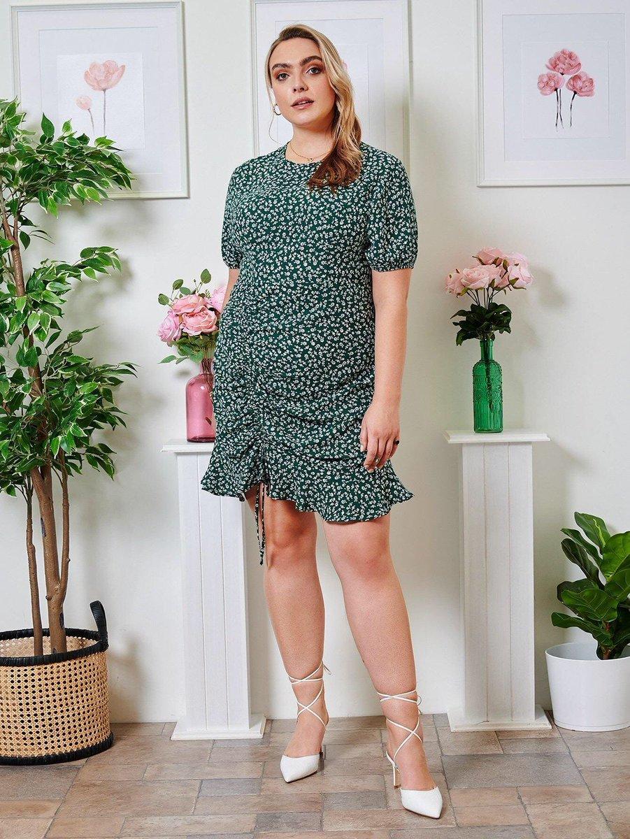Plus Ditsy Floral Drawstring Ruched Front Ruffle Hem Dress!!   $35.+ Shop: https://t.co/n0osWEY0H8  #plussize #fitness #plussizefashion #model #curvywomen #plussizebeauty #loveyourself #bodypositivity #bodypositive #curvygirl #beautiful #ootd #curvymodel #fashion #plussizestyle https://t.co/HtPLMUX6Zf