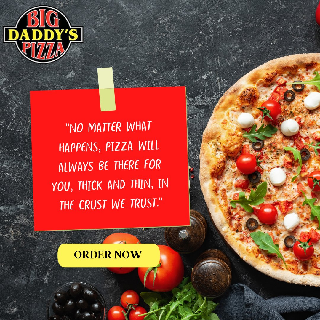We trust our Big Daddy's pizzas. 🍕😍  Do you?!  Order 🍕 now at 👉--->  https://t.co/t9SR9TtCBh  OR give us a call at (𝟯𝟬𝟯) 𝟵𝟴𝟴-𝟯𝟲𝟵𝟳  #bigdaddyspizza #bigdaddysbearvalley #eatpizza #pizza #pizzatime #delicious #cheese #pizzanytime #pizzaquote https://t.co/itU7YYAjoP