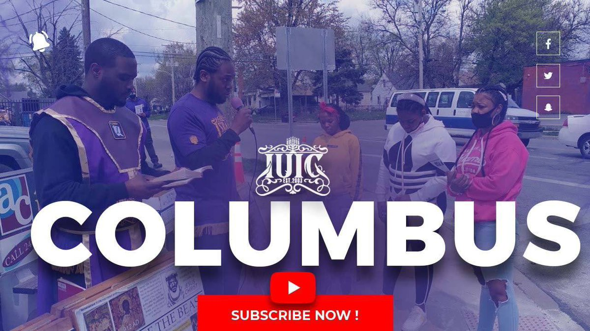 """Shalom Israel MHNCBUA!   Follow Us On #YouTube. #Like #Comment #Share & #Subscribe to IUIC COLUMBUS page.   """"We will see you in the comments""""   #IUIC #COLUMBUS  #COLUMBUSOHIO  #BLACKS #HISPANICS #NATIVEAMERICANS https://t.co/MXC0xMX4bd"""