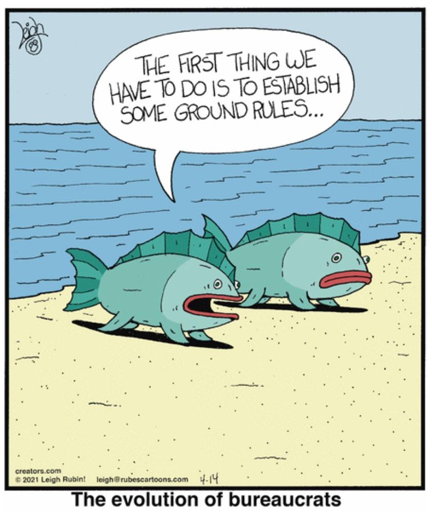 . #Evolution of #Bureaucracy 😜🤣😜🤣😜  #comics #cartoon #lol #comedy #jokes #humor #hilarious #laughter #funny #fun #smile #laughing #lmao #haha https://t.co/nWj9nb7OVS