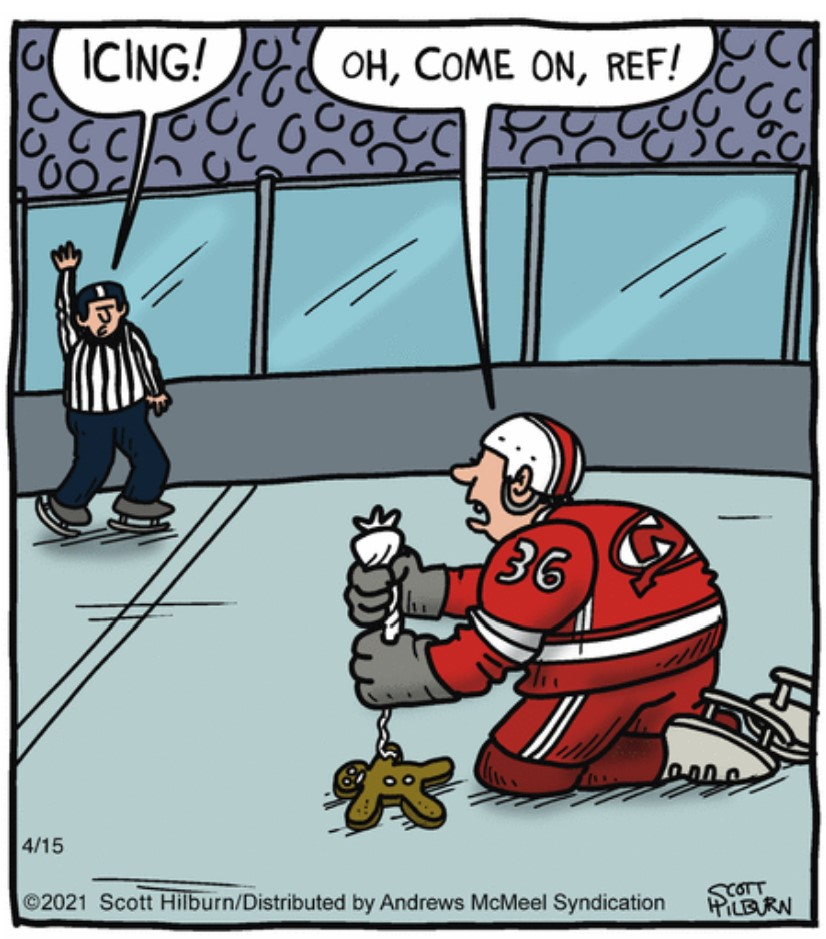 . #Silly #Hockey Penalty  😜🤣😜🤣😜  #comics #cartoon #lol #comedy #jokes #humor #hilarious #laughter #funny #fun #smile #laughing #lmao #haha https://t.co/IoEv8hwUZr