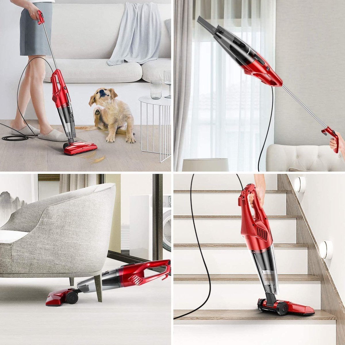 ad: $39.99   2-in-1 600W Corded Stick Vacuum    Link0  Link0