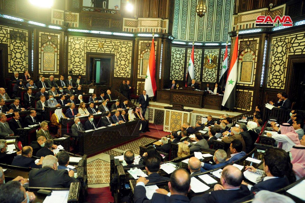 رئيس مجلس الشعب يعلن تبلغ المجلس بتقديم طلبي ترشح جديدين إلى منصب الجمهورية تصوير بلال حمام سانا دمشق