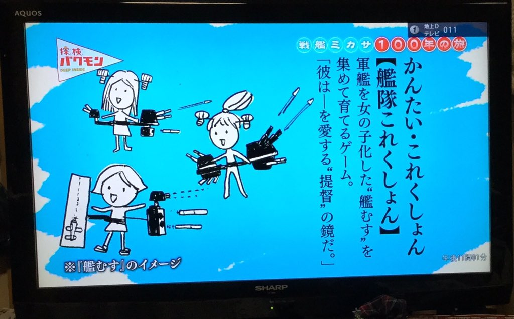 大人の事情によって?NHKで艦これが落書きによって紹介される!