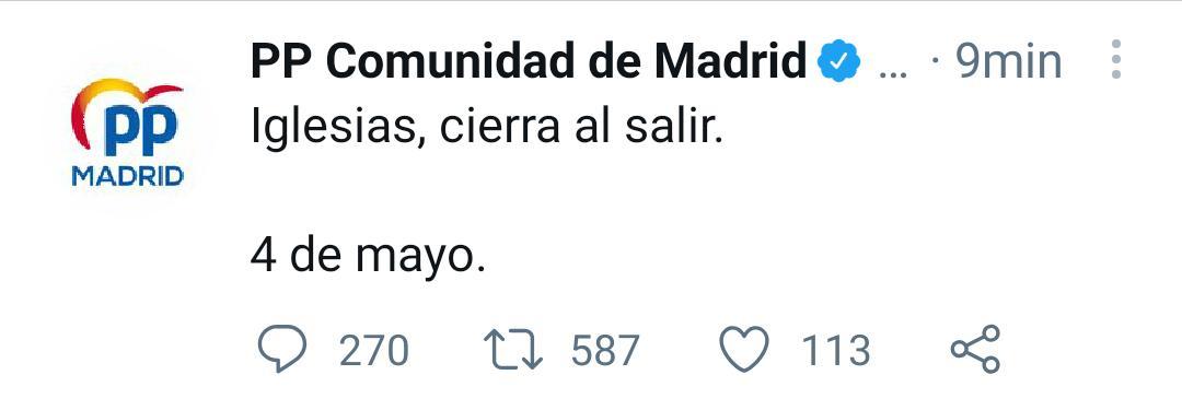 Elecciones a la Asamblea de Madrid 4 de mayo de 2021! ¡Vuelve la guerra fría!.  EzpweKuXsAU35yS?format=jpg&name=medium