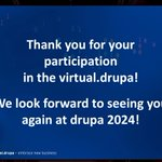 Image for the Tweet beginning: That's it from #virtualdrupa! Watch