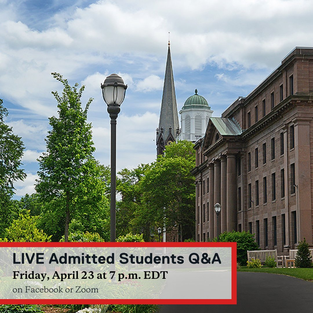 test Twitter Media - Our second LIVE Admitted Students Q&A will happen tonight, Friday, April 23 at 7 p.m. Our current students can't wait to answer any questions you have about Wes and to share their experiences.  Watch live on Facebook or participate on Zoom: https://t.co/ep9qcilMzZ https://t.co/JOP61LDLbX