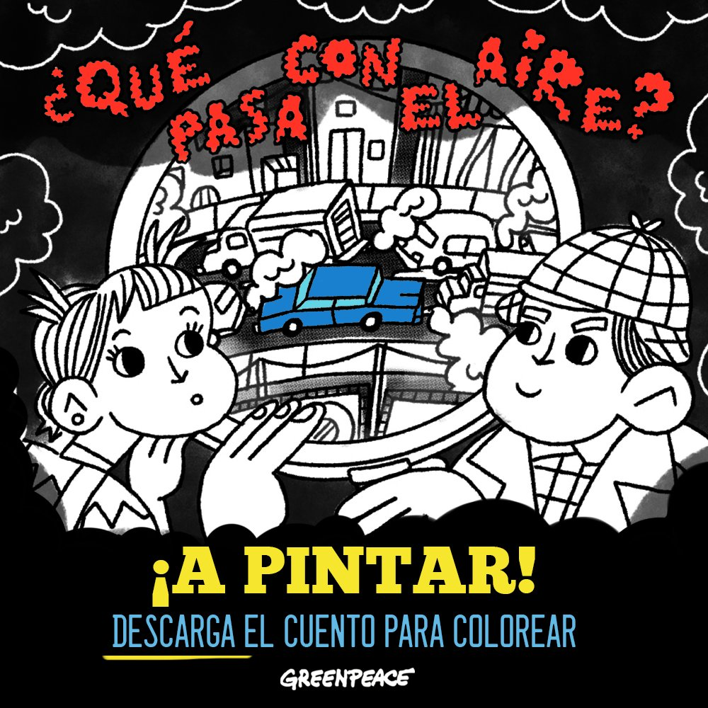 """Greenpeace México on Twitter: """"¡Hoy es el #DíaInternacionalDelLibro! 📖  Celébralo con las niñas y niños del hogar, sigan la historia del escuadrón  detective y aprendan qué pasa con el aire. 💨 Descárgalo"""