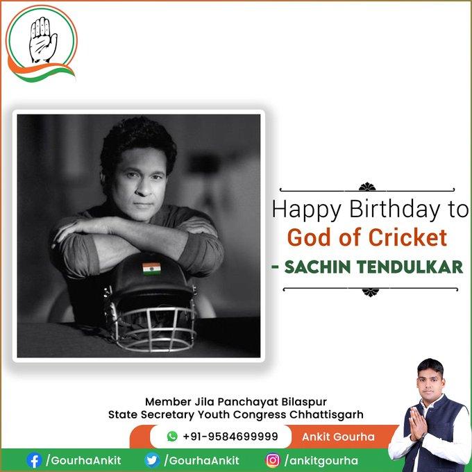 Happy birthday to God of Cricket-Sachin Tendulkar.