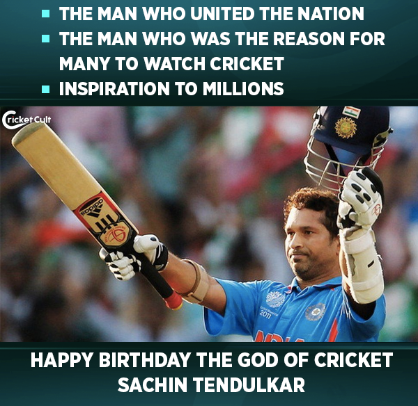 Wishing a very Happy Birthday to the God of Cricket - Sachin Tendulkar.