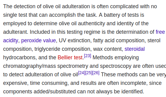 Not only is olive oil a terrible money, it is also very difficult to verify, unlike bitcoin. It doesn't have full nodes and even sophisticated scientific testing isn't enough to determine if it's been mixed with rapeseed & canola industrial waste. https://en.wikipedia.org/wiki/Olive_oil_regulation_and_adulteration