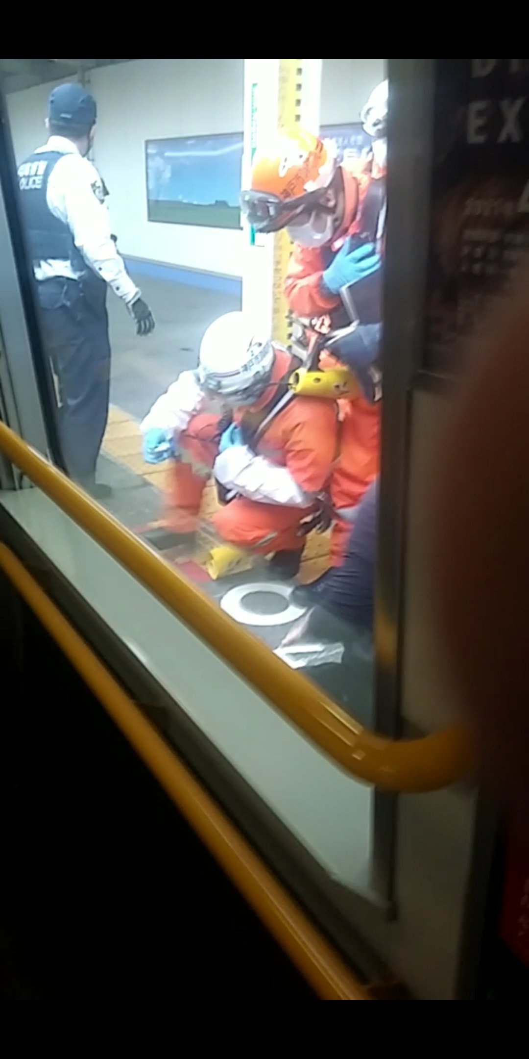 神戸線の新長田駅の人身事故の現場の画像