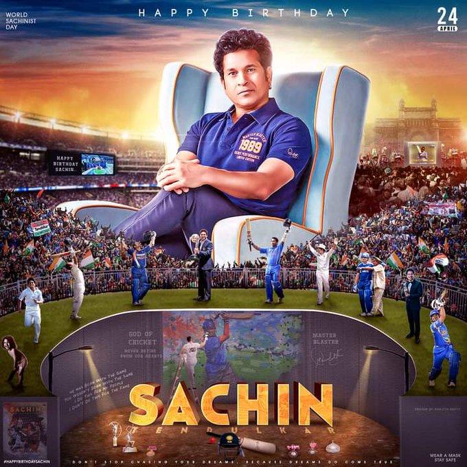 Happy birthday to u sachin tendulkar    god of cricket